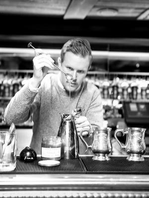 Chartreuse cocktail challenge finals in Stockholm, Trader Magnus