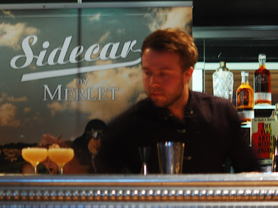Sidecar by Merlet cocktail competition in Stockholm, Trader Magnus