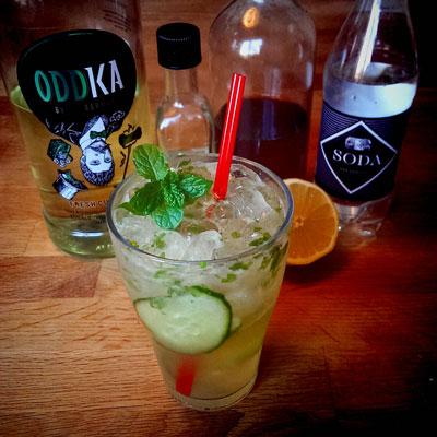 Review: Oddka Fresh Cut Grass vodka, Trader Magnus