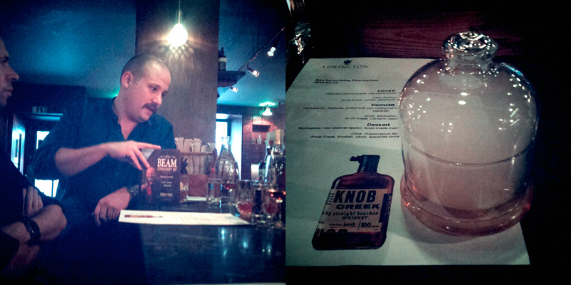 Review: Knob Creek Bourbon and dinner at Pharmarium, Trader Magnus